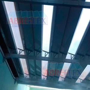 Cobertura mista em policarbonato e alumínio - 4